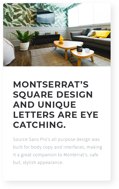 Beautiful Font Combinations for real estate websites
