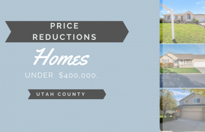 Homes Under $400,000 With Price Reductions!