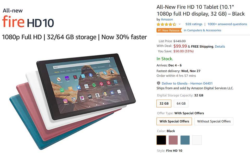 Amazon Black Friday Fire HD tablet deals, Amazon Black Friday Echo deals, Amazon Black Friday Kindle deals,
