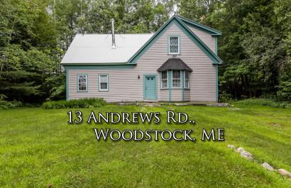 13 Andrews Rd   Woodstock, ME   $195K
