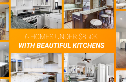 6 Homes With Beautiful Kitchens Under $850K