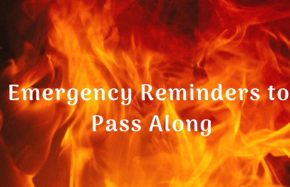 Emergency Reminders to Pass Along