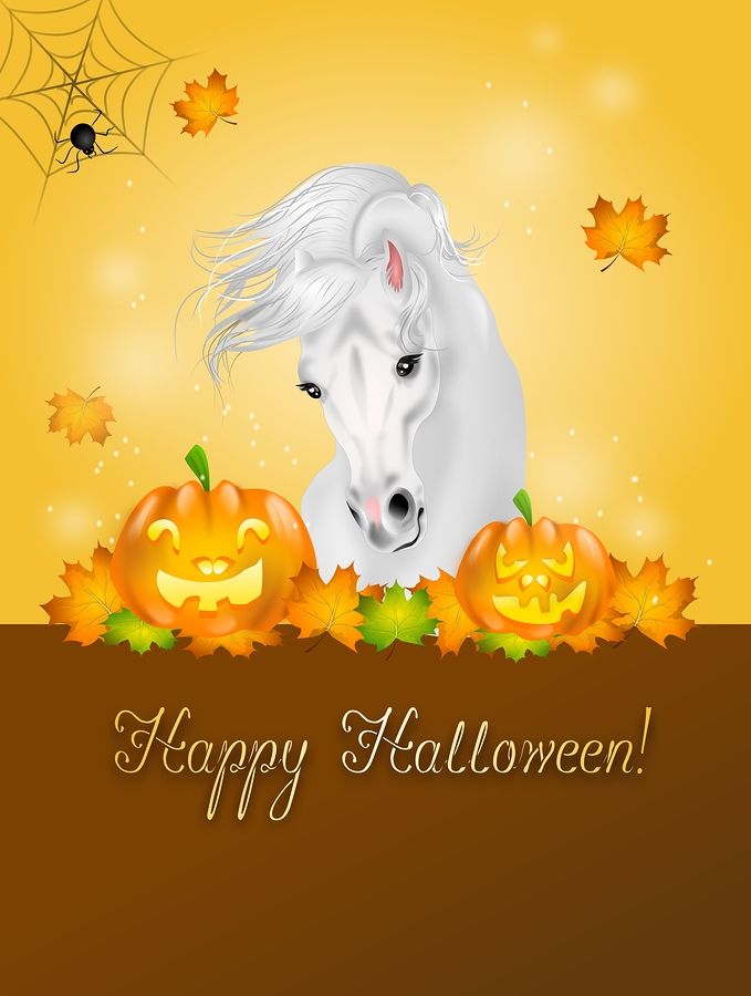 Santa Barbara property owners do Halloween with the horses.