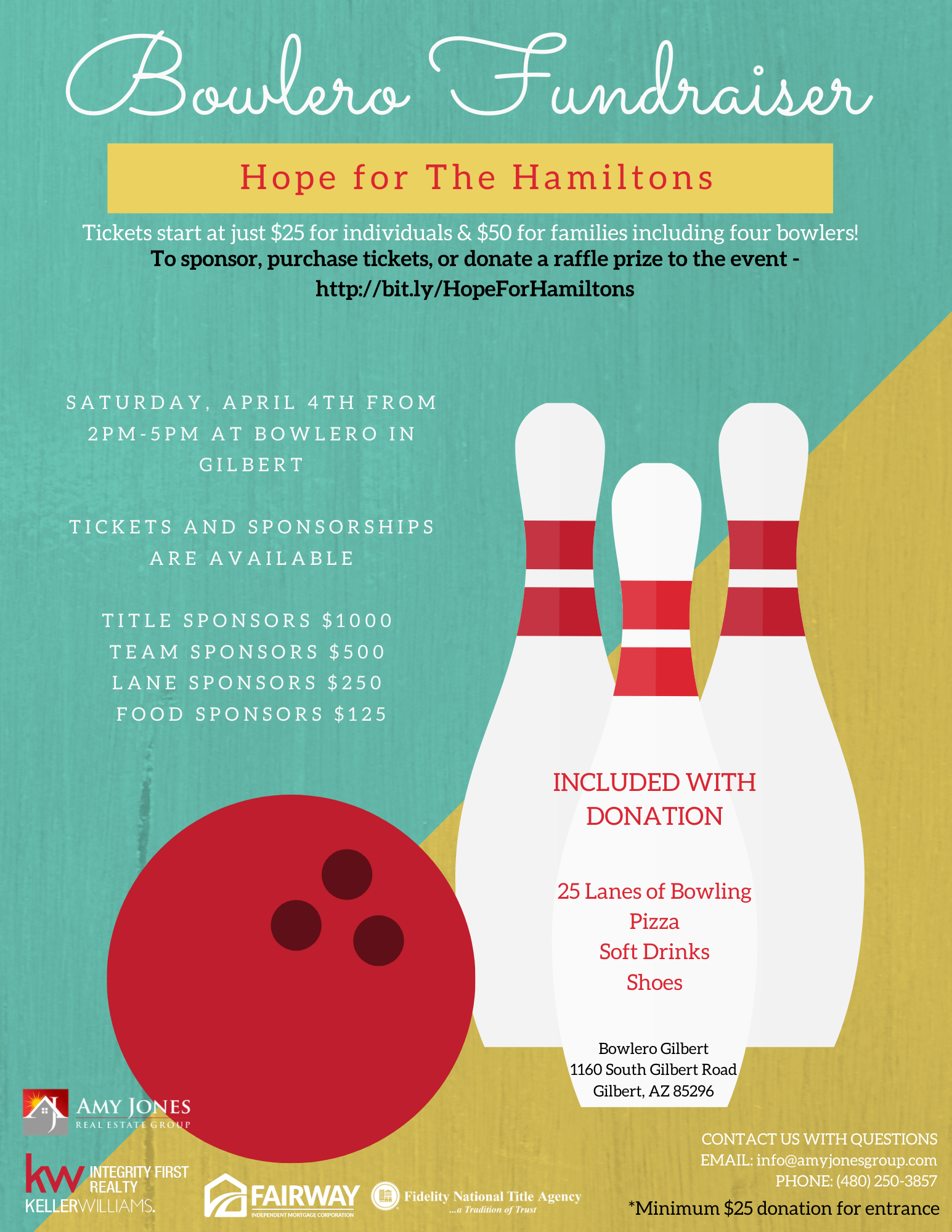 Hope for The Hamiltons - Bowlero Fundraiser