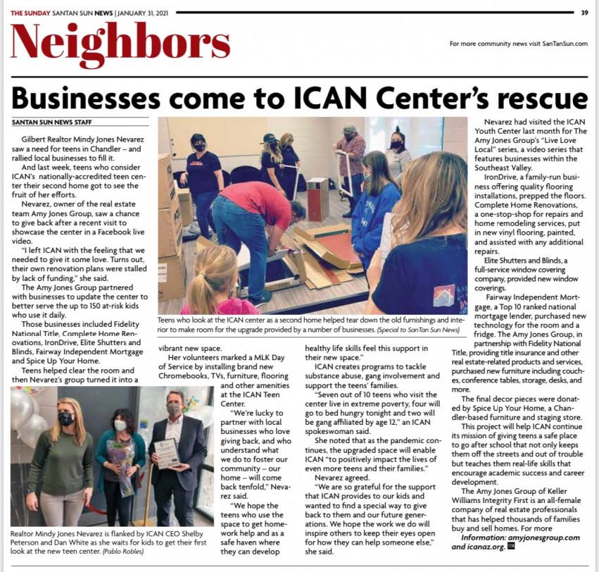 Santan Sun News - ICAN Teen Center