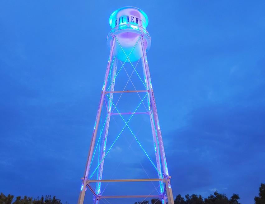 Gilbert Water Tower Lighting