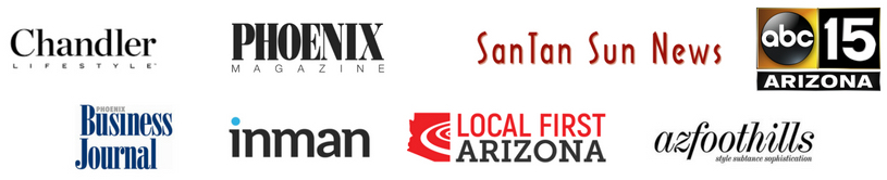 The Amy Jones Group has been featured in Chandler Lifestyle Magazine, Phoenix Magazine, San Tan Sun News, ABC15 News, Phoenix Business Journal, Inman News, Local First Arizona, and Arizona Foothills Magazine.