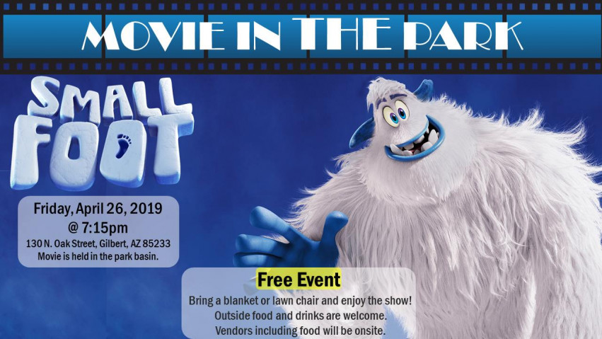FREE Movie in The Park - Small Foot