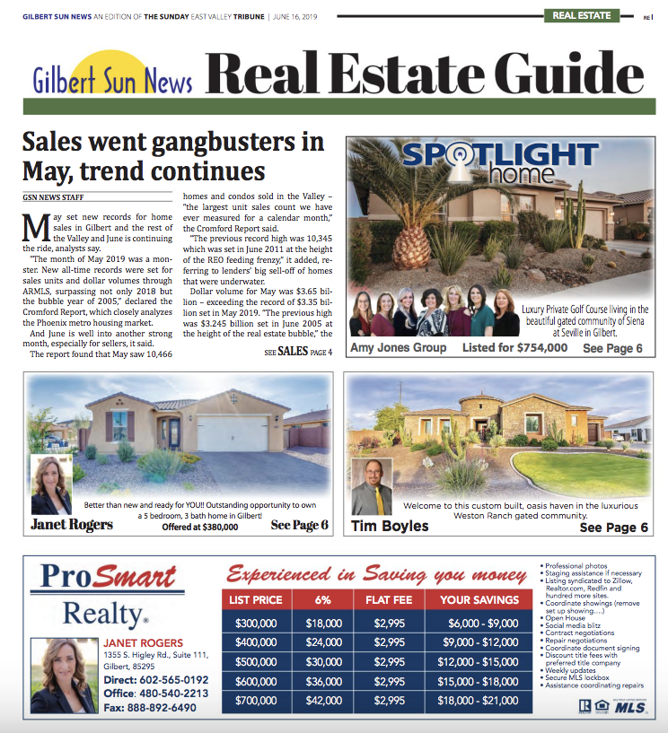 Price Your House Correctly | Gilbert Sun News June 2019