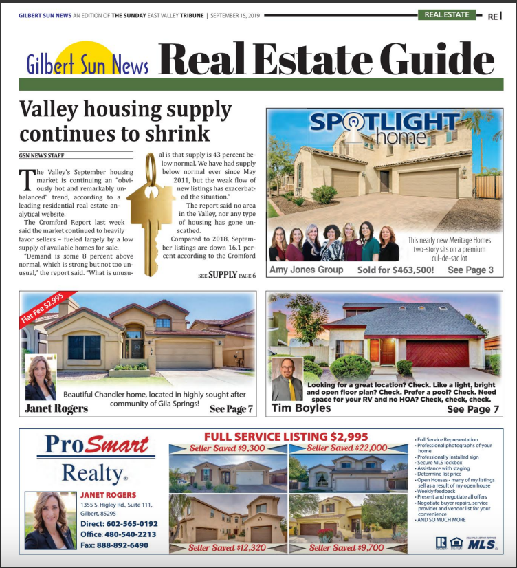 Gilbert market is hot - and likely to remain that way | Gilbert Sun News 09-17-2019