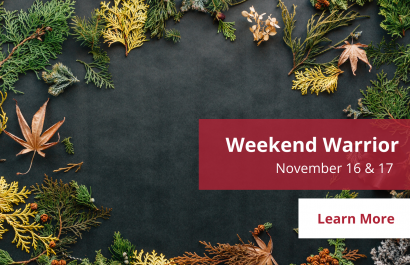 Weekend Warrior - November 16 - 17 | Amy Jones Group