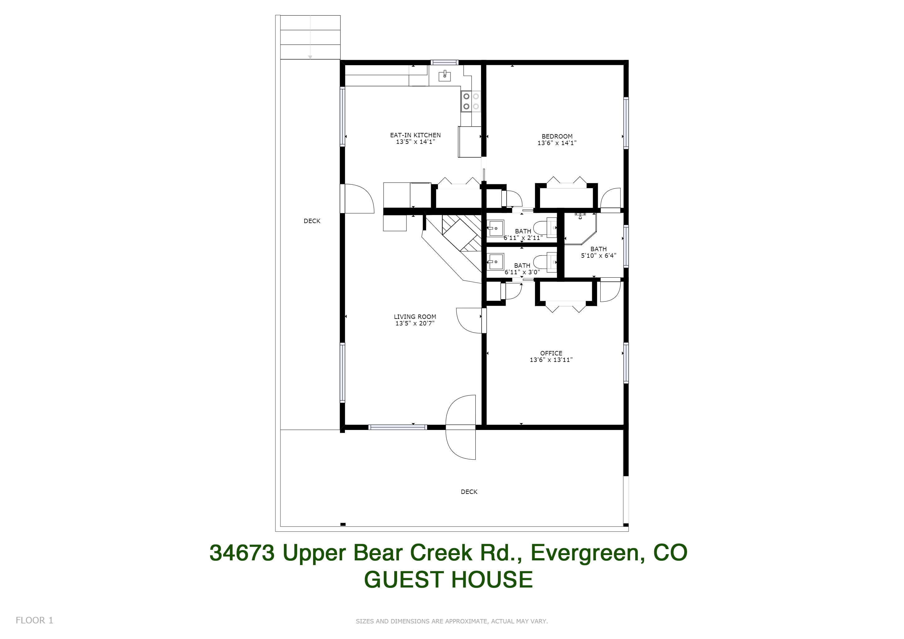 Upper Bear Creek Guest House floor plan