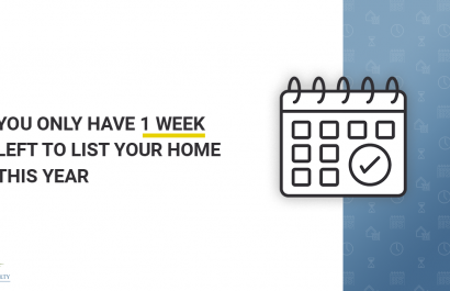 You Have 1 Week Left to List Your Home This Year
