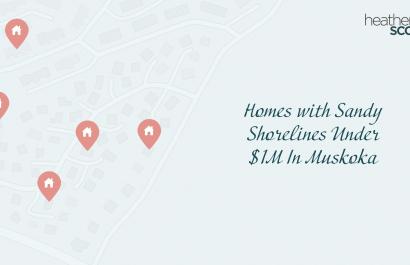 Best Homes with Sandy Shorelines Under $1M In Muskoka
