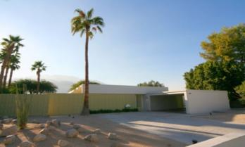 Decorative concrete outside El Rancho Vista Estates home
