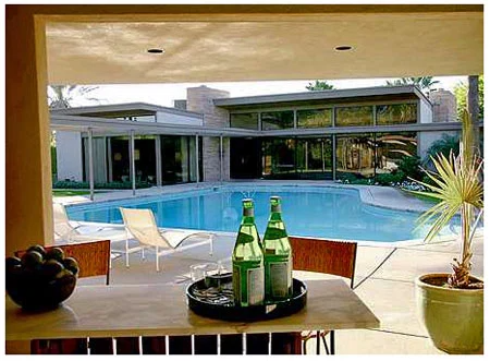 """Frank Sinatra's """"Twin Palms"""", E. Stewart Willaims first residential commission. (Note the piano-shaped pool.)"""