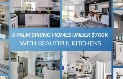 5 Palm Springs Mid Century Homes With Beautiful Kitchens Under $700,000