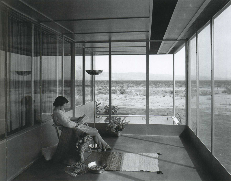 Grace Miller on the porch of her home