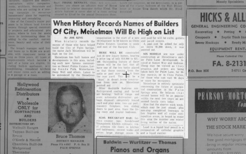 Desert Sun article on Meiselman