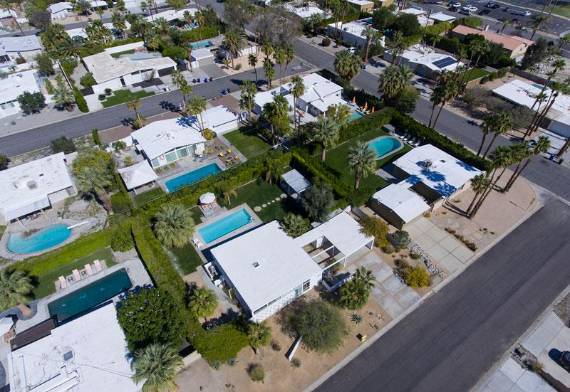 Overhead of Racquet Club Estates neighborhood