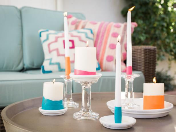 DIY Dip Dyed Citronella Candles