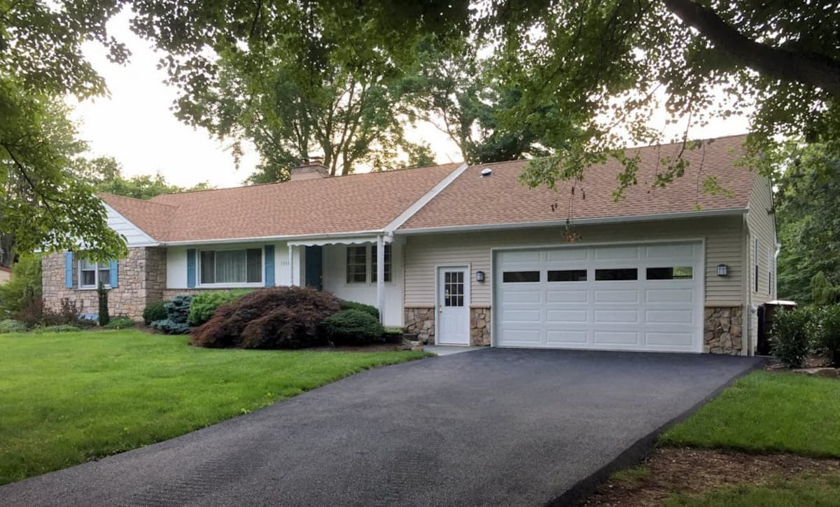 Private, Single Level Home Backing to Park
