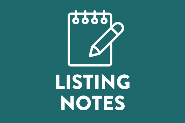 Listing Notes
