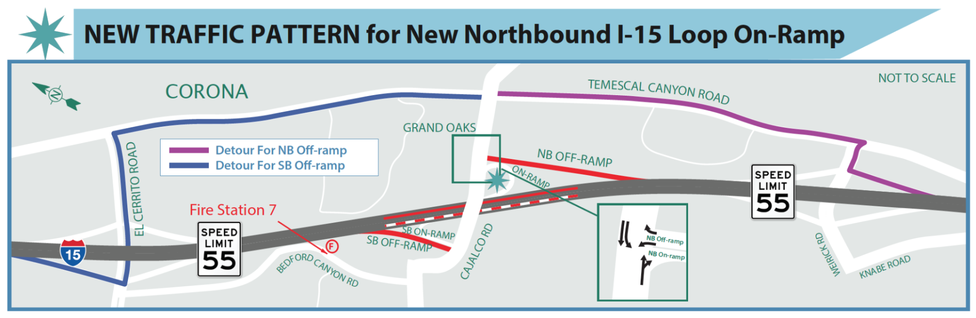 REMINDER: NEW TRAFFIC PATTERN for the New Northbound I-15 Cajalco Rd On-Ramp