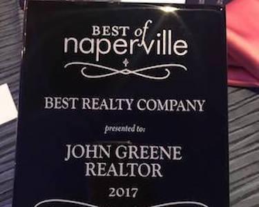 john greene Realtor Voted Best of Naperville for Eighth Year