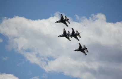 Another one of the coolest things about Colorado Springs - The Thunderbirds Flyovers!