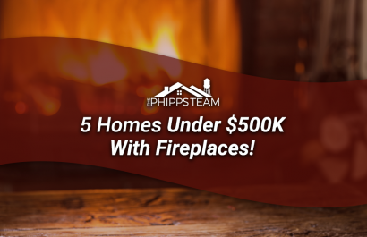 5 Homes Under $500K With Fireplaces