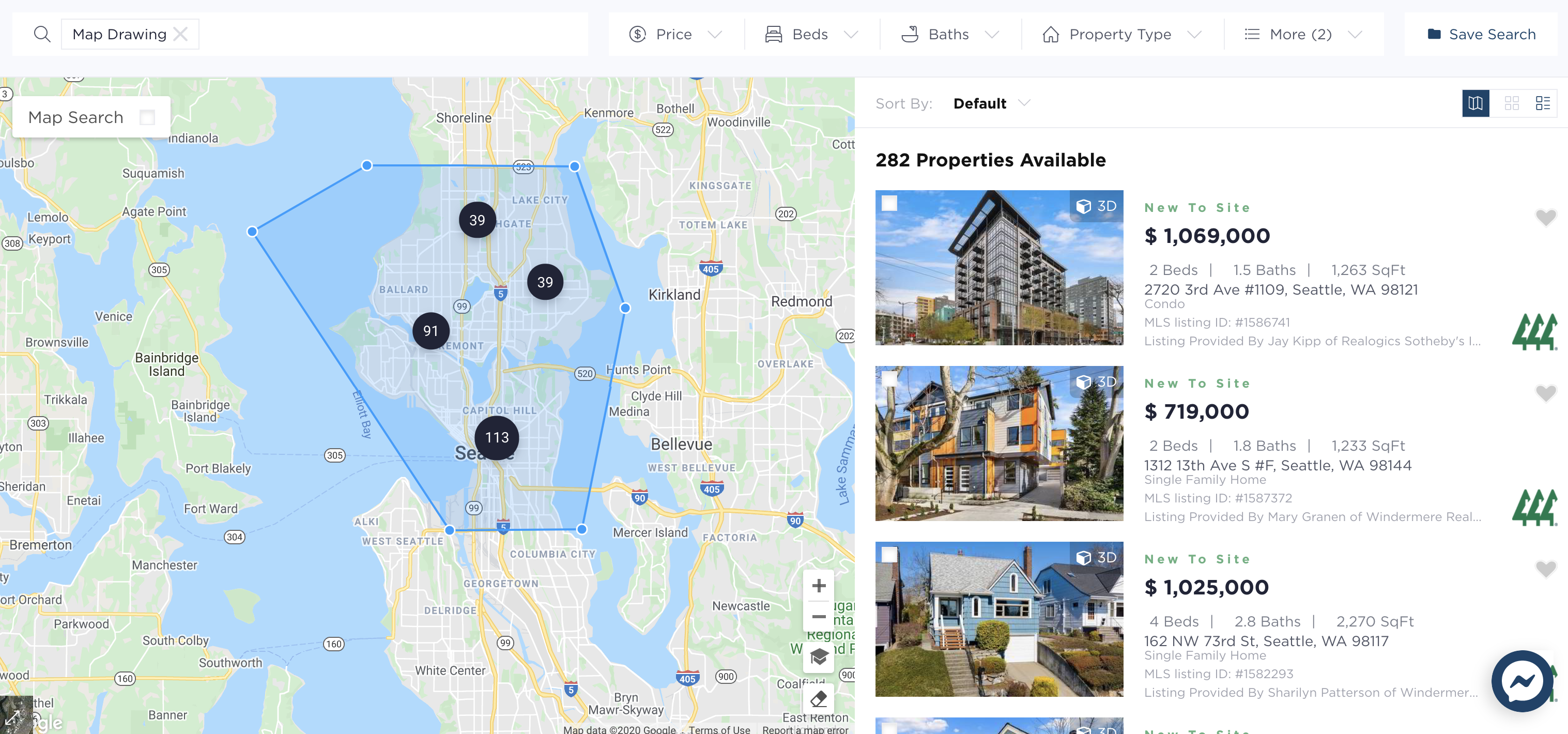 282 Homes On The Market With Virtual & 3D Tours!