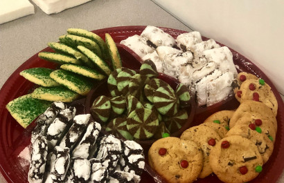 Pictures from our client appreciation party! Homemade cookies and professional photographs with Santa himself!