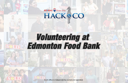 Volunteering at Edmonton Food Bank