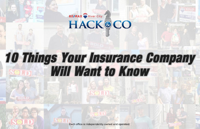 10 Things Your Insurance Company Will Want to Know