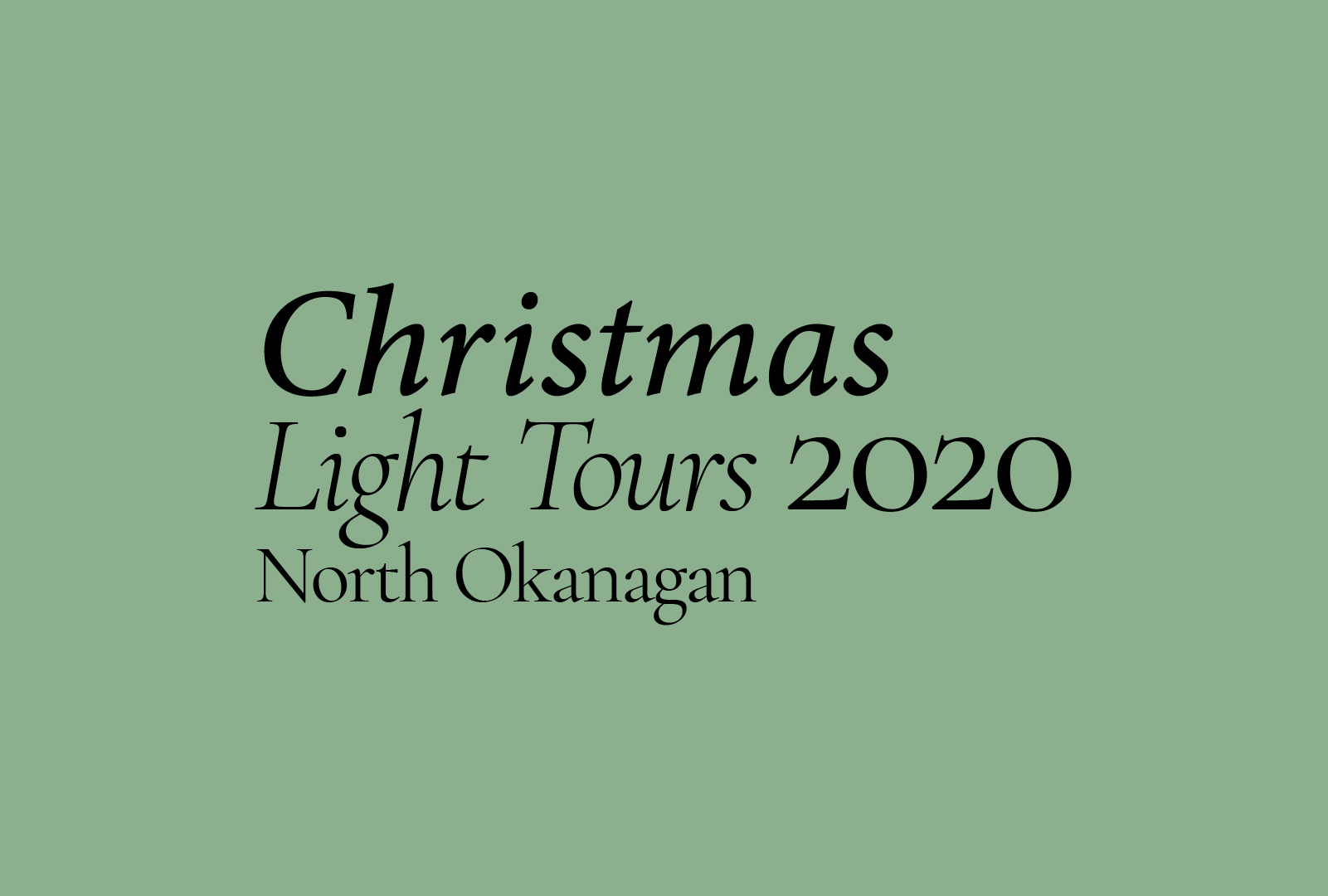 Christmas Light Tours 2020 (North Okanagan)