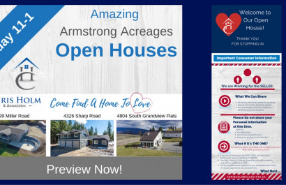 Open Houses in and around Vernon April 14, 2019