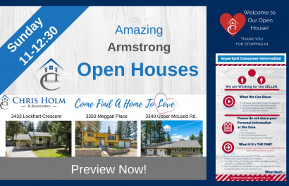Open Houses in and around Vernon May 17, 2019