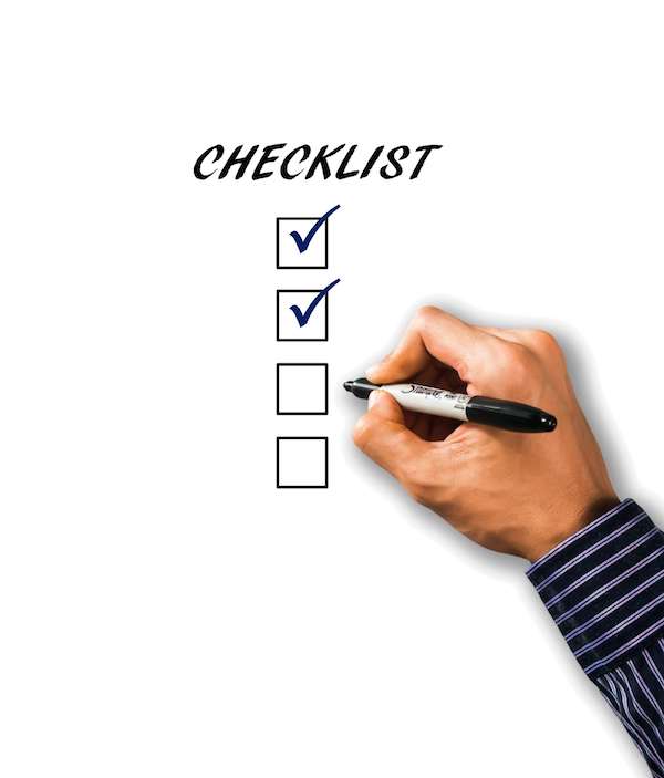 CHECKLIST - Before you Sell