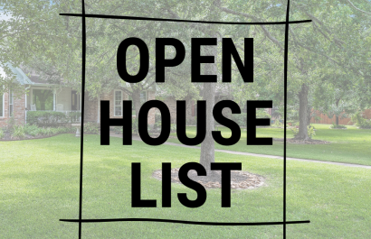 Your Open House List This Weekend