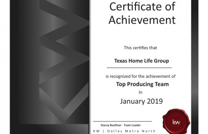 Local Real Estate Agent Awarded Top Producing Real Estate Team in Flower Mound