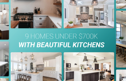 9 Homes With Beautiful Kitchens Under $700K