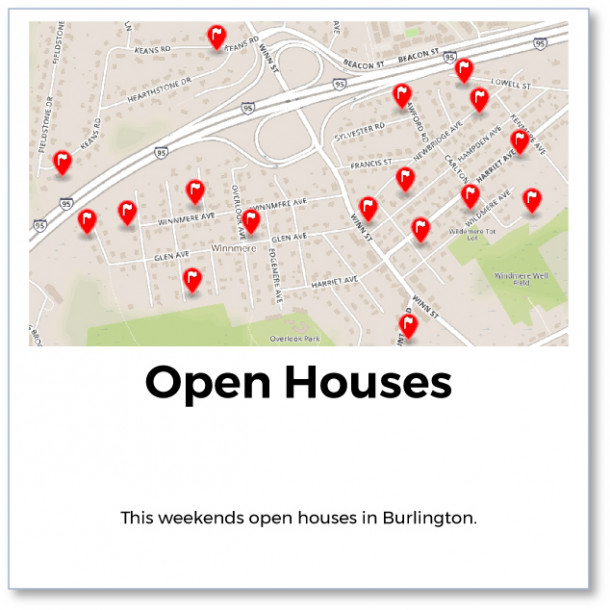 Burlington Weekend Open Houses