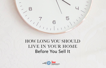 How Long You Should Live In Your Home Before You Sell It