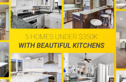 5 Homes With Beautiful Kitchens Under $350K