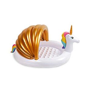 summer camp at home unicorn kiddie pool