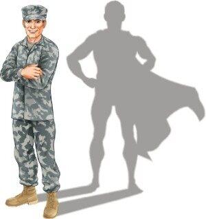 Hero soldier concept