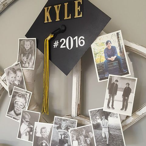 graduation photo wreath