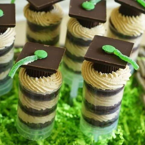 graduation party ideas  peanut butter cup push pop