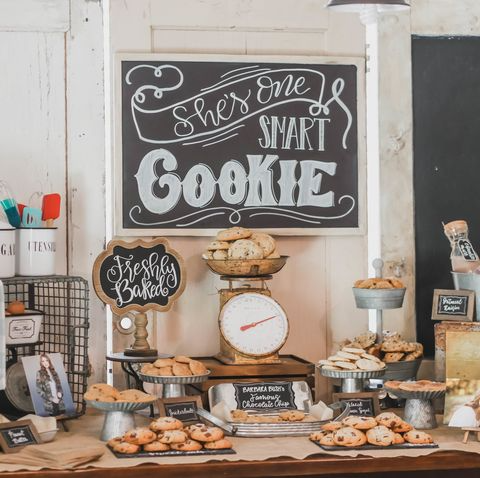 graduation party ideas  she's one smart cookie spread